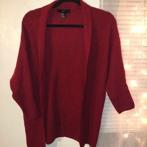 Red cardigan | Forever 21 | Large